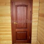Тонированная межкомнатная дверь из дерева