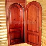 Межкомнатная арочная дверь с тонировкой