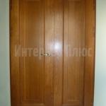 Накладки из дуба на металлическую дверь