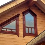Нестандартные деревянные окна.