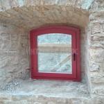 Деревянное окно, крепость Ивангород.