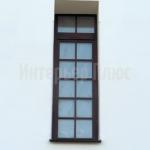 Нестандартные деревянные окна со стеклопакетом.