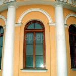 Деревянное окно со стеклопакетом из дуба