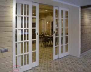 Раздвижная дверь со стеклом